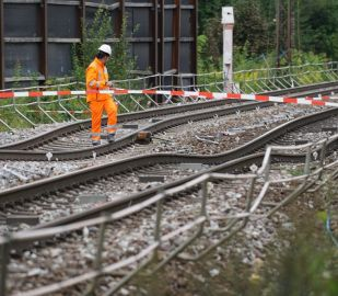 Tunnel collapse on continental rail network