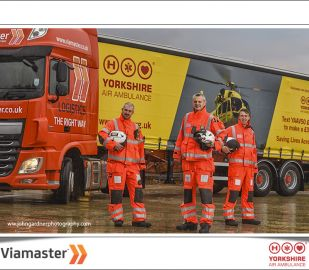 Viamaster show our support for Yorkshire Air Ambulance